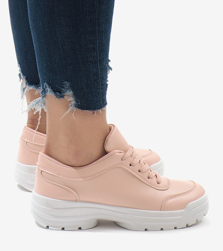 Białe sneakersy z pomarańczowymi wstawkami Milly