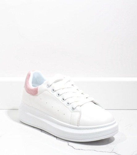Czarne sneakersy damskie z brokatem Feel this