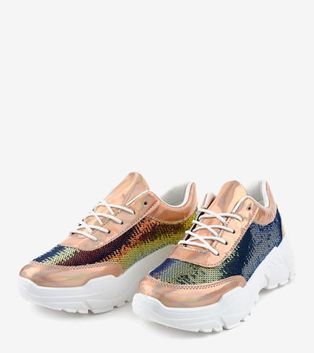Pomarańczowe trampki damskie Popular girl